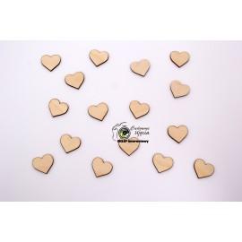 Elementy dekoracyjne - serca  śr.3cm,  25szt