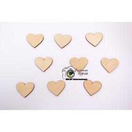 Elementy dekoracyjne - serca  śr.5cm,  25szt