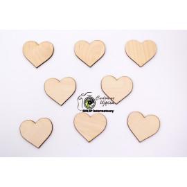 Elementy dekoracyjne - serca  śr.6cm,  25szt