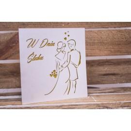 """Kartka """"W dniu Ślubu"""""""