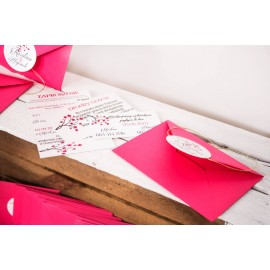 Zaproszenia ślubne 3 częściowe w kopercie