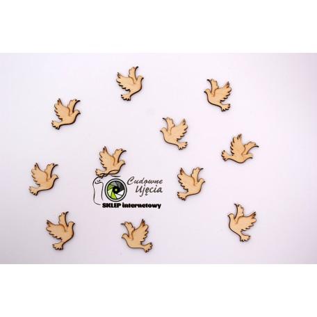 Elementy dekoracyjne - gołąbki śr 3,5 cm - 25 szt