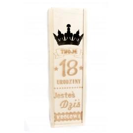 Skrzynka na wino  -  18 urodziny