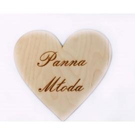 Drewniane serce - Panna Młoda