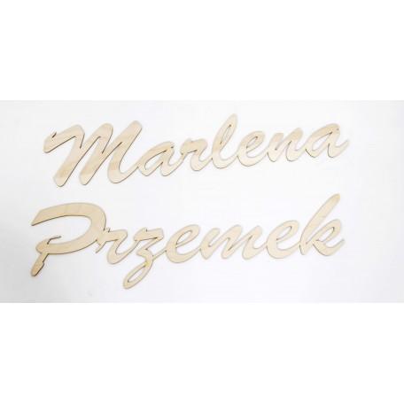 Drewniany napis imiona