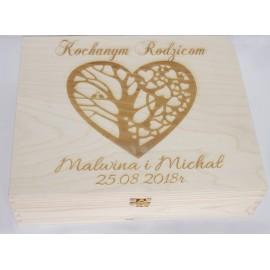 Drewniany kuferek - Kochanym rodzicom