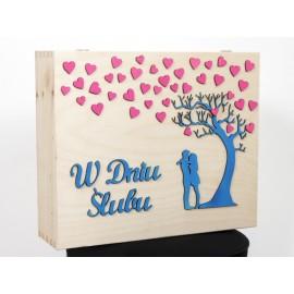Drewniany kuferek - W dniu ślubu