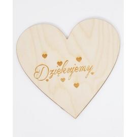 Drewniane serce -Dziękujemy