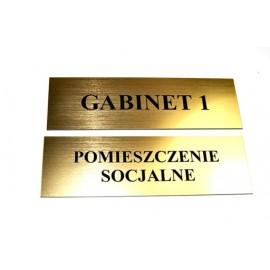 Tabliczka -  laminat grawer 29,5 x 10,5cm