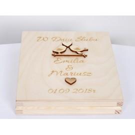 Pudełko drewniane - w Dniu ślubu