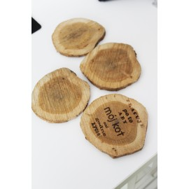 Drewniane plastry podkładki