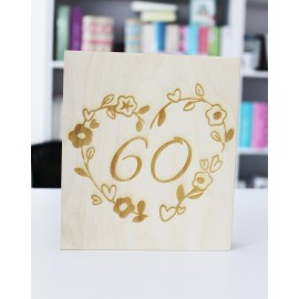 Drewniane pudełko z okazji 60lat