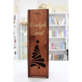 Skrzyneczka na wino -Wesołych Świąt