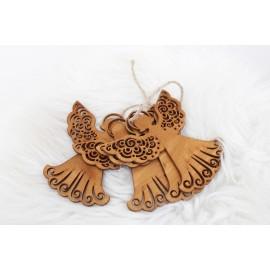 Aniołki drewniane ozdoby