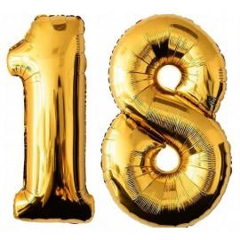 Balony Foliowe złote  18 - 100cm