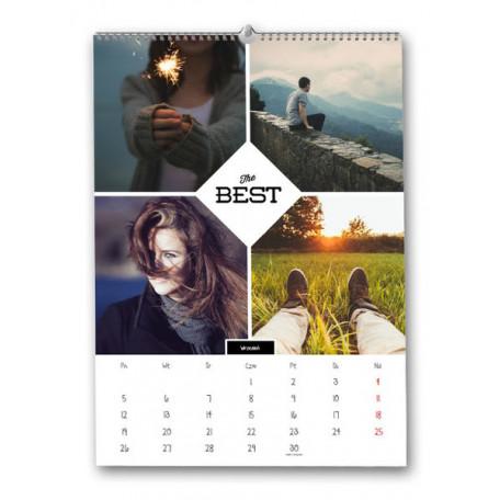 Foto Kalendarz z Twoimi zdjęciami - wiszący